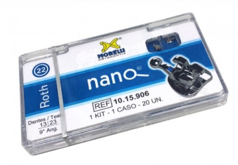 Kit De Braquetes Roth Nano .22'' Can.9° Angulo-Gancho Can./ Pres