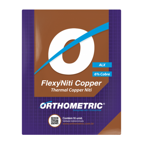 Flexy Niti Copper Arch Wire c/ 10 un 0.18 X 0.25 Upper Orthometric