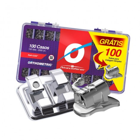 Kit Promo Advanced Roth 22 100 Casos + 100 Tubos Orthometric